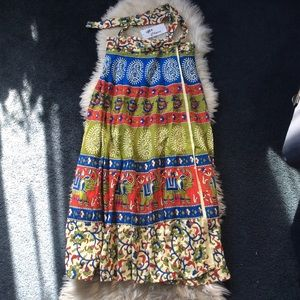Hippie boho festival elephant wrap maxi skirt